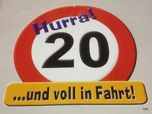 Piastra-Gigante-20-Compleanno-Segnale-Stradale-Festa-Tondo-Evviva-20-con-Detto