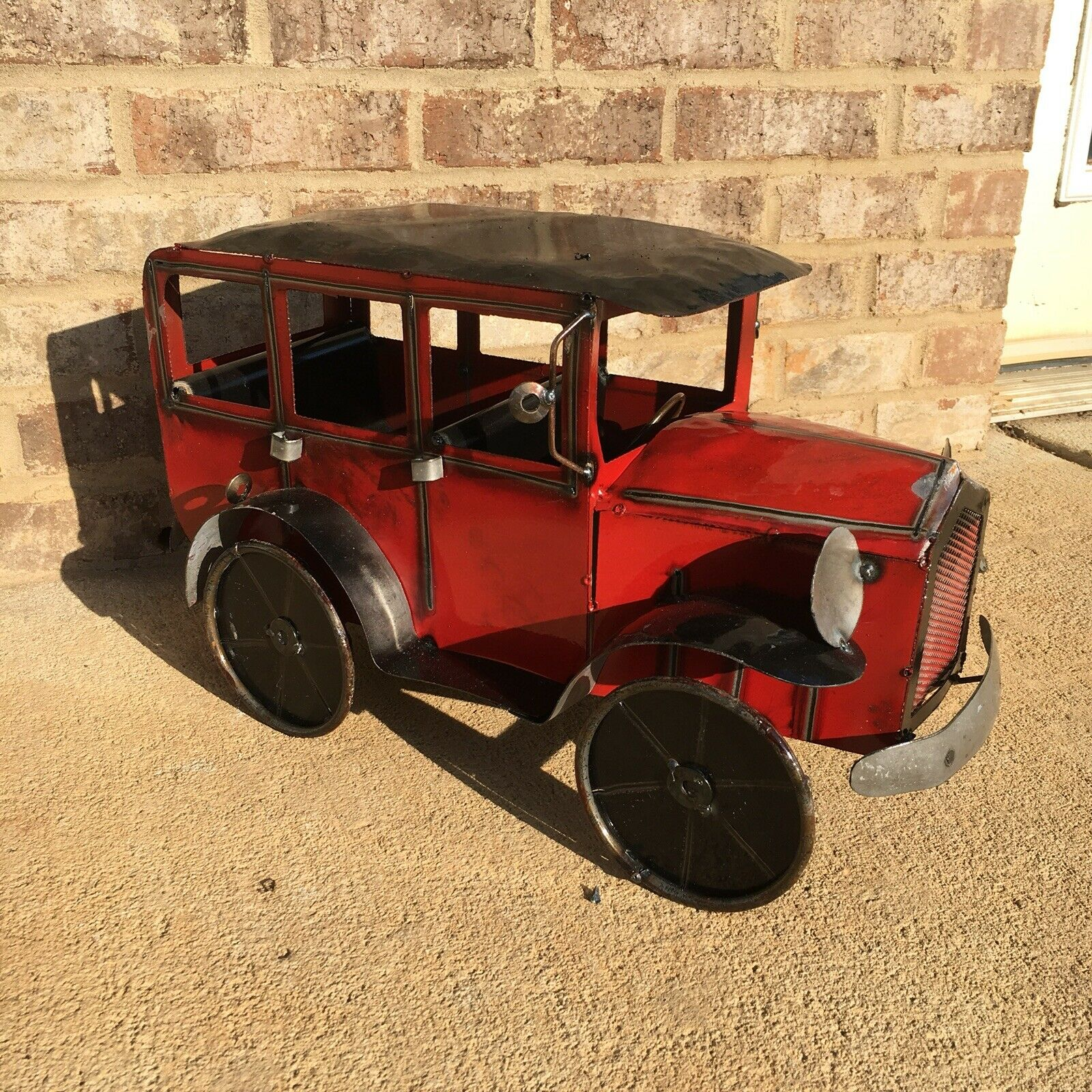 Large Tin Metal Antique Style Car Toy Ford Model A T 18 Sedan rot Cadillac Art