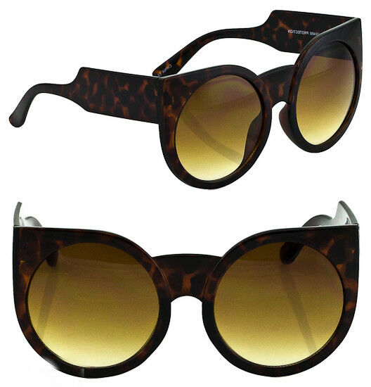 Oversized Large Thick Arms Round Cat Eye WaYfe Wolves PinUp Big Sunglasses 6035