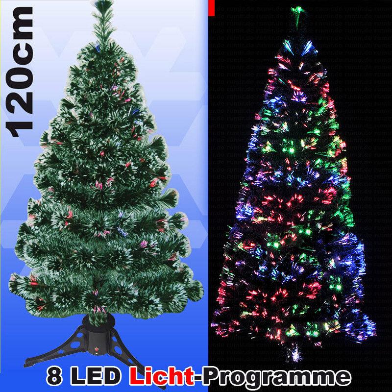 LED Weihnachtsbaum 120 cm Tannenbaum farbwechselnde Glasfaser Fiberoptik xmas