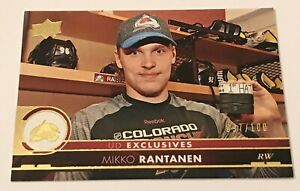 Mikko Rantanen /100 made UD Exclusives Insert Parallel Hockey Card 47 Avalanche