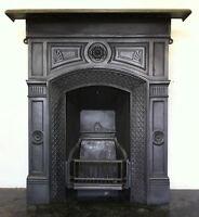 Original Restored Antique Victorian Cast Iron Bedroom Fireplace Small (PK077)