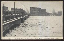 Postcard GRAND RAPIDS Michigan/MI  1907 Flood Ice Jam at Bridge
