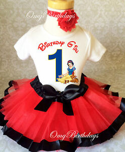 e90c90272f2 Snow White Princess baby Girl 1st First Birthday Tutu Outfit Shirt ...
