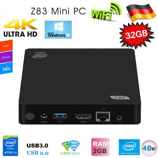 Z83 Windows 10 MINI PC Smart TV Box Intel 32GB/2GB 4K UHD Dual WiFi Bluetooth DE
