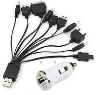 10 in 1 Universale Cavo USB & Caricabatteria Da Auto Per Cellulare PSP iPhone & Samsung
