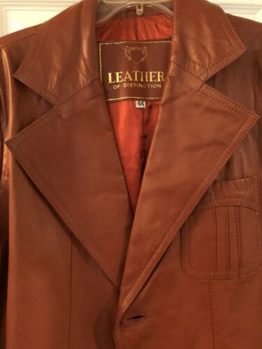 Vintage 1970s Size 44 Leather of Distinction Men's
