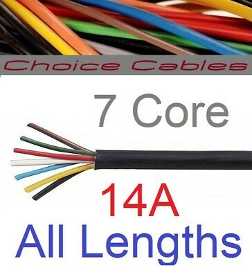 7 Core Trailer Cable Automotive 12v 24v Marine Round Wire Thinwall DC Wiring Car