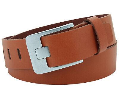 Systematisch Ledergürtel Herren Damen 4,5 Cm Cognac Echt Leder Gürtel Jeans Belt #4,5-0001-14
