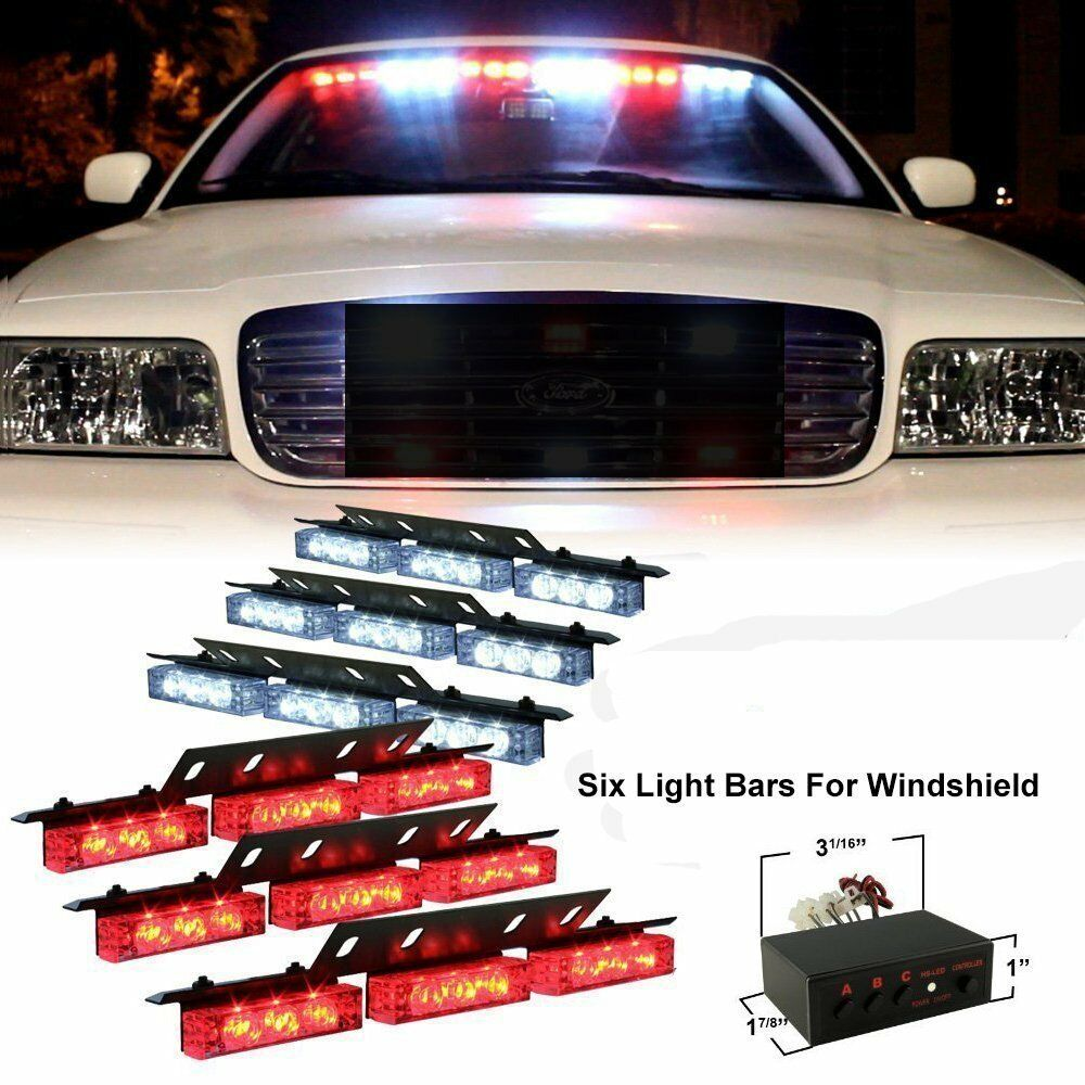 Zone Tech 54 Led Car Emergency Grille Police Strobe Lights