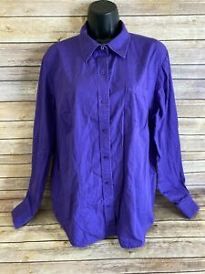 Cruel-Girl-Western-Shirt-Size-XXL-2XL-Womens-Purple-Long-Sleeve-Button-Down-top