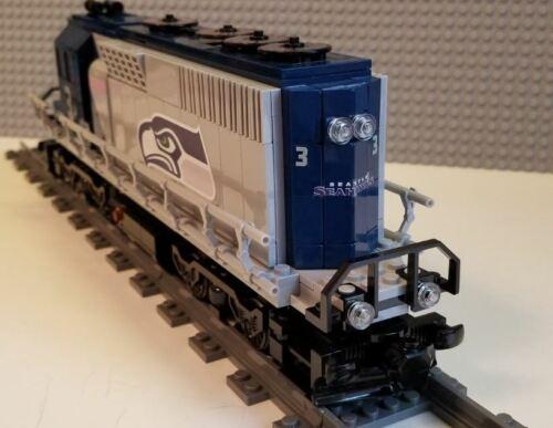 -Please Read Item Description Lego Train Custom BNSF Blue GP40
