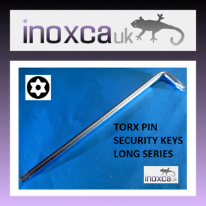 "Torx PIN HOLE /""L/"" Forme Clé ** Long Reach ** CR-V T50 TX50 6 Lobe 6 point Star"
