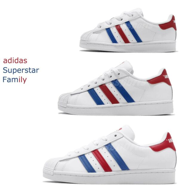 adidas Originals Superstar vs. Americana USA White Red Men Women Kid Baby Pick 1