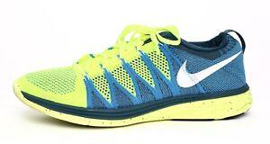 buy online 6cc62 54ef8 Image is loading Nike-Flyknit-Lunar-2-Men-039-s-Lime-