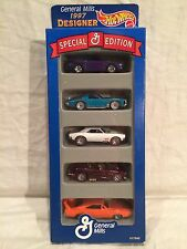 1997 1/64 Hot Wheels General Mills Designer Collection 5 Pack Gift Set Cars
