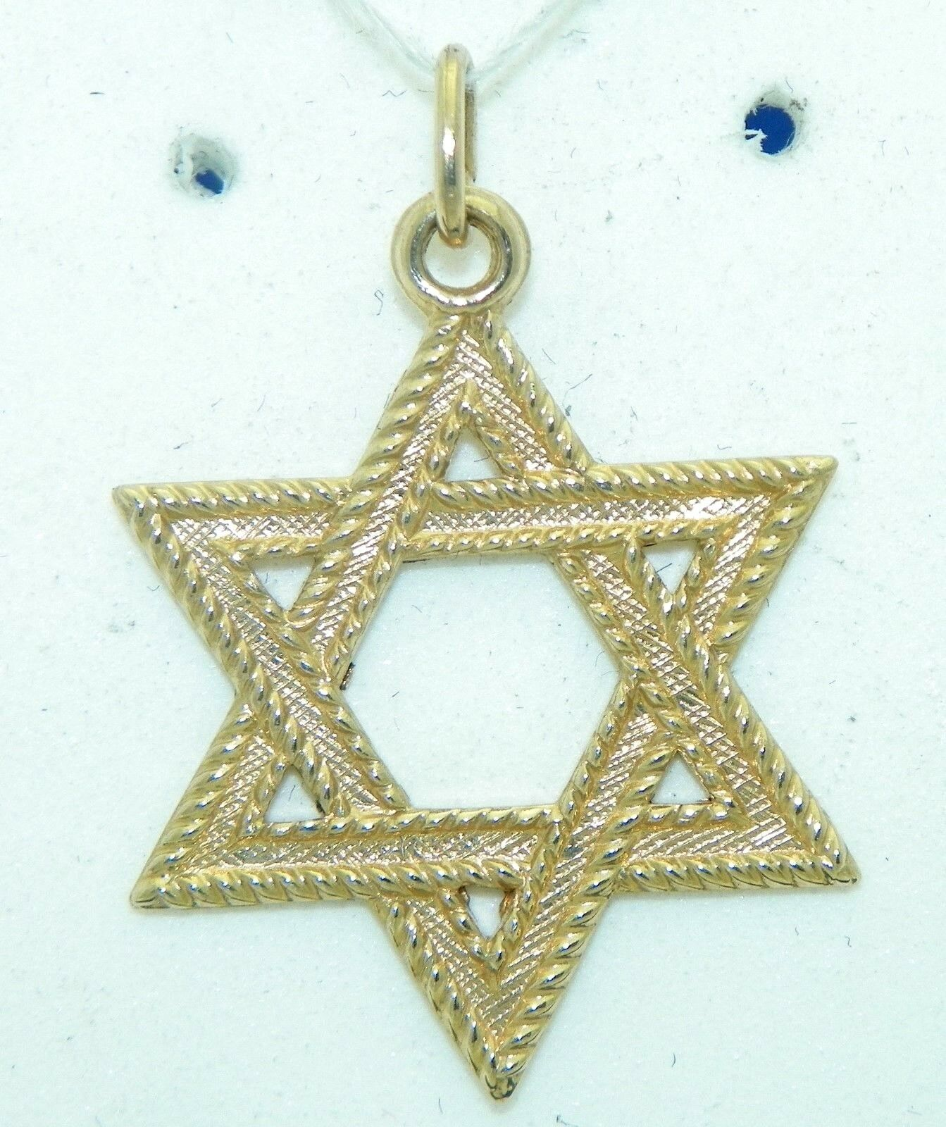 STAR OF DAVID PENDANT REAL SOLID 14 K gold 1.3 g