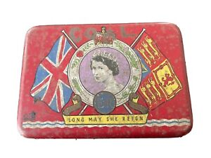 vintage Oxo tin to Celebrate The Coronation Of Queen Elizabeth II 2nd June 1953
