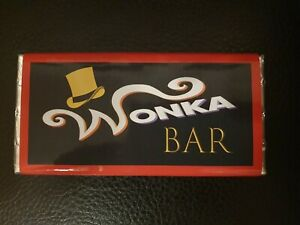 Details About Willy Wonka Chocolate Bar And 1 X Golden Tickets 100g Chocolate Bar
