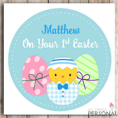 Personalised First Easter Card Daughter Granddaughter Son Granson 1st Easter