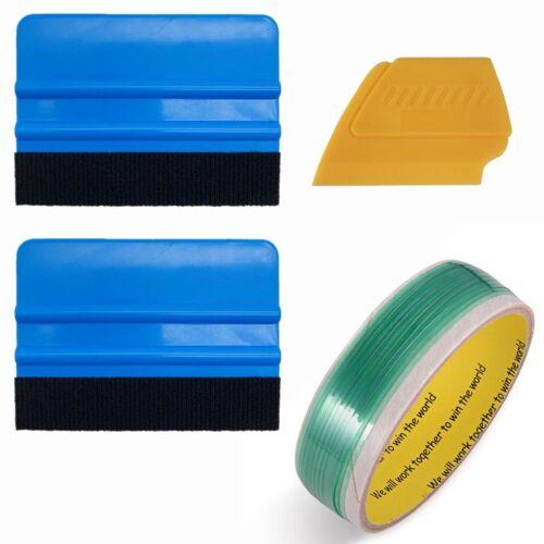 5M Knifeless Finish Line Tape Pro Felt Blue Squeegee Scraper Vinyl Wrap Tools