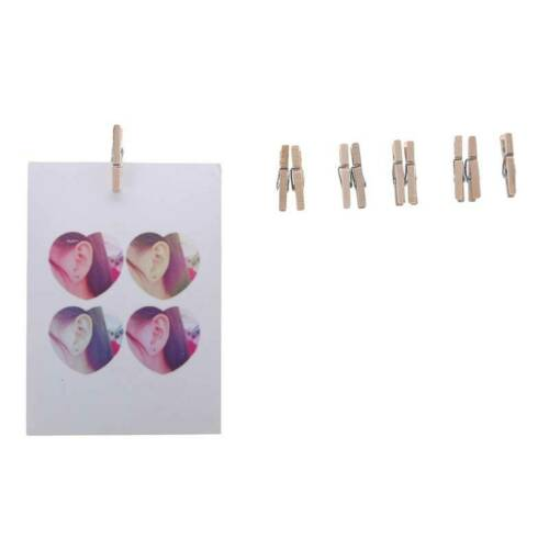 Durable 50 Pcs//bag Wooden Clips Natural Household Picture Hanging Photo Clips HS