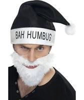 Bah Humbug Anti-santa Claus Costume Kit Hat Beard And Glasses Set
