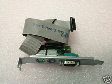 New Dell F6VNT I/O Serial and PS2 Add-in Card High Profile with Cable