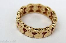 TOUS anillo en oro amarillo 18Kt. Colección Mil osos. Talla 8 (Size 48)