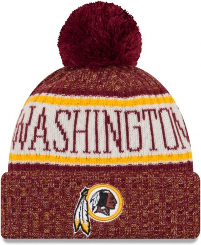 NEW Era-Washington Redskins on Field Sport 2018 Knit Bobble Beanie