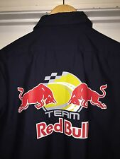 Medium NASCAR Team Issued Red Bull Racing Puma Pit Crew Shop Shirt Athlete