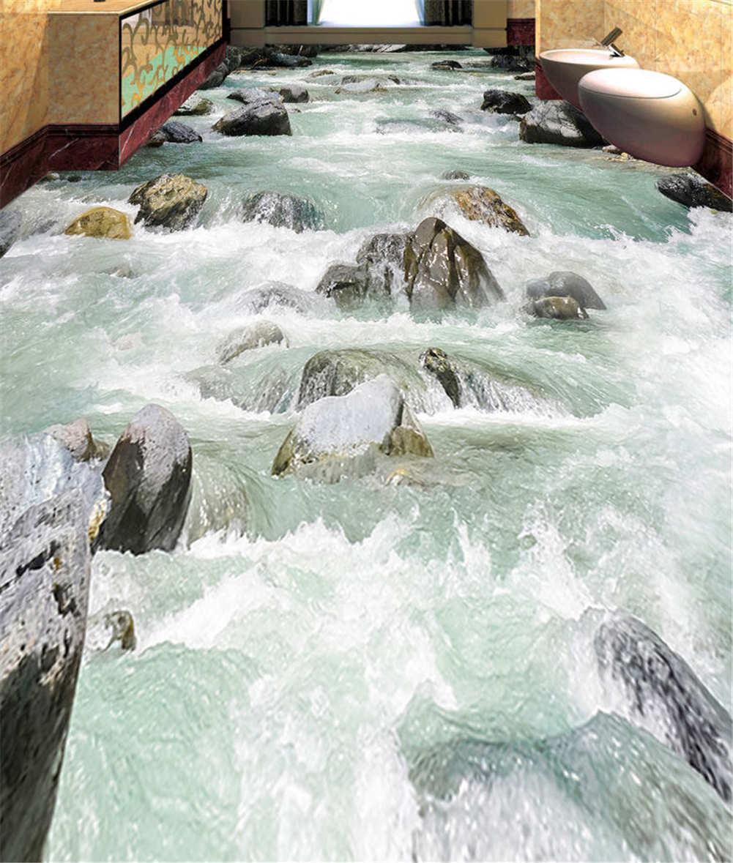 Frozen River Water 3D Floor Mural Photo Flooring Wallpaper Home Print Decoration