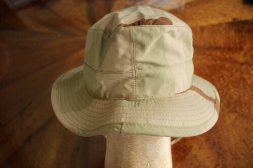 USMC MARINE CORPS DESERT BDU RIPSTOP CAMO COMBAT FLOPPY HAT BOONIE CAP SZ 7 3//4