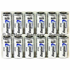 12 x CR123 Energizer 3V Lithium Batteries (CR123A, DL123, 123, EL123, CR17345)