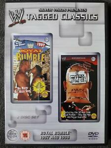 WWF Royal Rumble 1997 + 1998 WWE DVD's Tagged Classics Wrestling Hasbro Figur