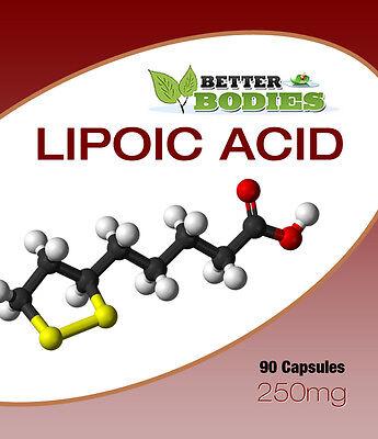 Alpha Lipoic Acid 250mg Capsules UK Manufactured