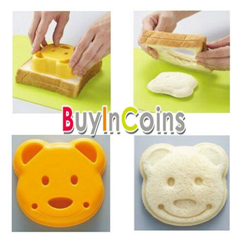 Bear Shape Sandwich Bread Cake Mold Maker DIY Cutter Sushi Panda Silicone Hot