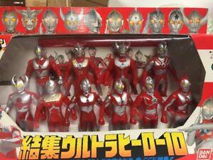 Bandai 1991 Ultraman Ultra Hero Coffret 10 Figurines Common Rider Power Rangers