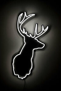 89eba1734d207 Details about New Deer Buck Stag Welcome Hunters Man Cave Neon Sign 20