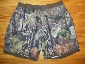 92b446a480 MOSSY OAK mens BROWN & GREEN FOLIAGE CAMOUFLAGE SWIM TRUNKS - Size ...