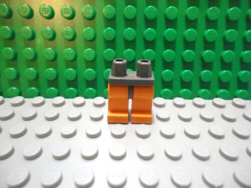 Lego mini figure 1 Orange legs with Old Classic Dark Gray waist