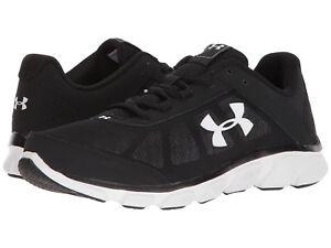 Under-Armour-Men-039-s-Micro-G-Assert-7-Running-Shoes-Black-White-US-Sizes