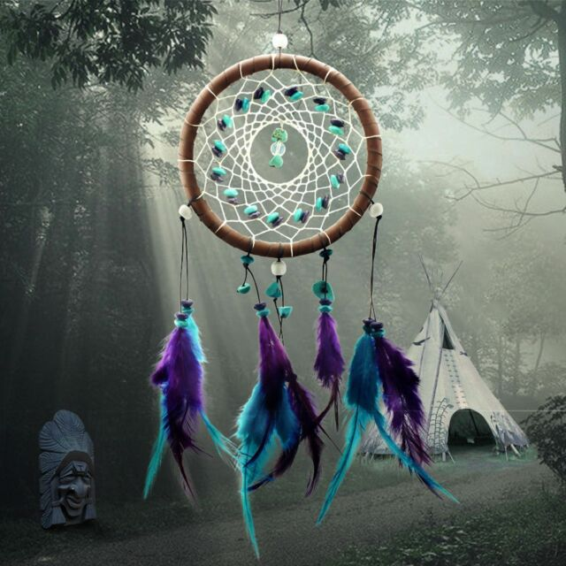 Hot Handmade Hanging Decoration Dream Catcher With Feather Ornament Craft Gift