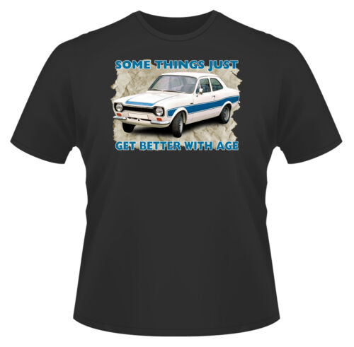 Ideal Gift Or Birthday Present Some Things Get Better Escort Men/'s T-Shirt