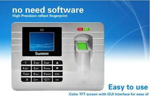 image is loading fingerprint recording attendance clock time card machine 2 - Time Card Machine