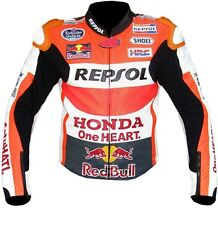 HONDA REPSOL Motorcycle Men Women Leather CE Approved Jacket