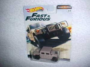 HW HUMMER H1 w/REAL RIDERS VHTF NEW FAST & FURIOUS OFF-ROAD PREMIUM HOT WHEELS