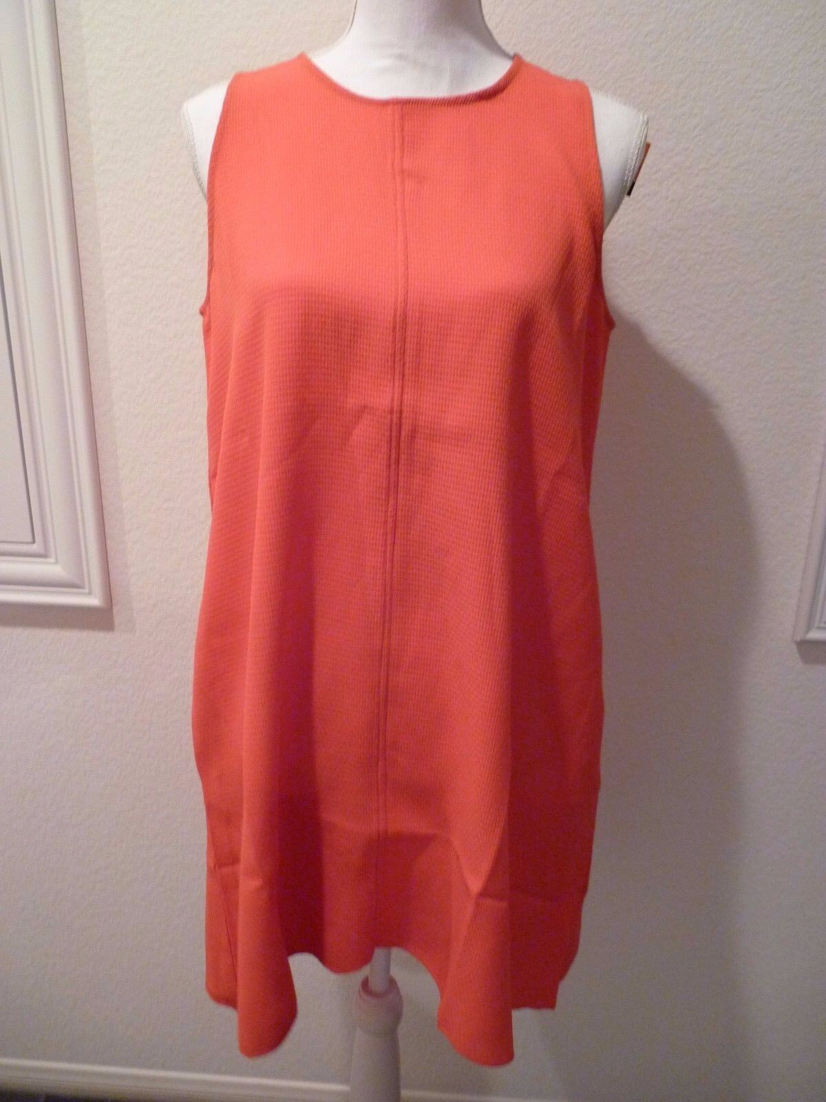 ISLE by Melis Kozan A line coral sleeveless Dress  SZ- M NWT