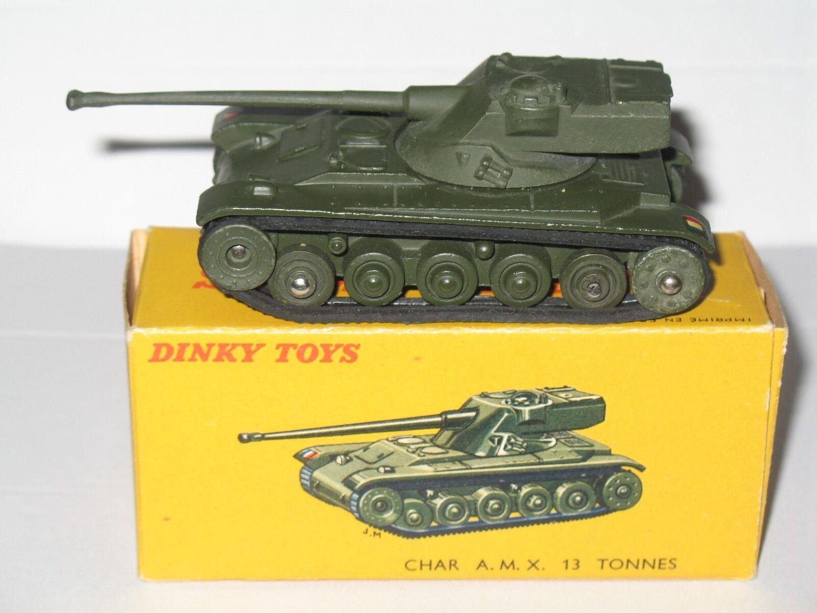 French dinky  80C – CHAR A.M.X 13 T Tank (En parfait état, dans sa boîte-original)