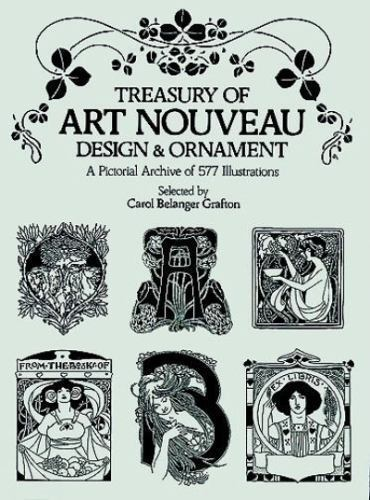 Dover Pictorial Archive Treasury Of Art Nouveau Design And Ornament 1980 Paperback For Sale Online Ebay